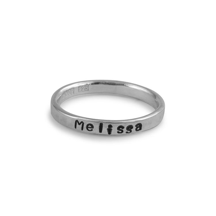 Kaja - Ring med egen text eller namn i Återvunnet silver