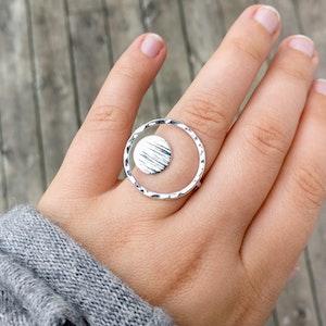 Halo - Justerbar Ring i Återvunnet Silver