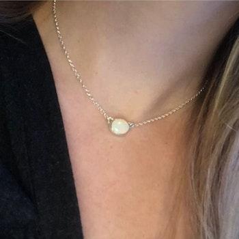 Halsband med Äkta Opal i Återvunnet Silver