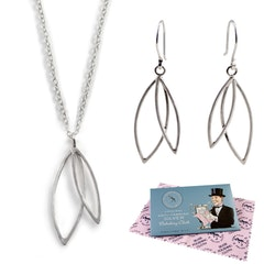 Set Halsband och Örhängen - Spira i återvunnet silver