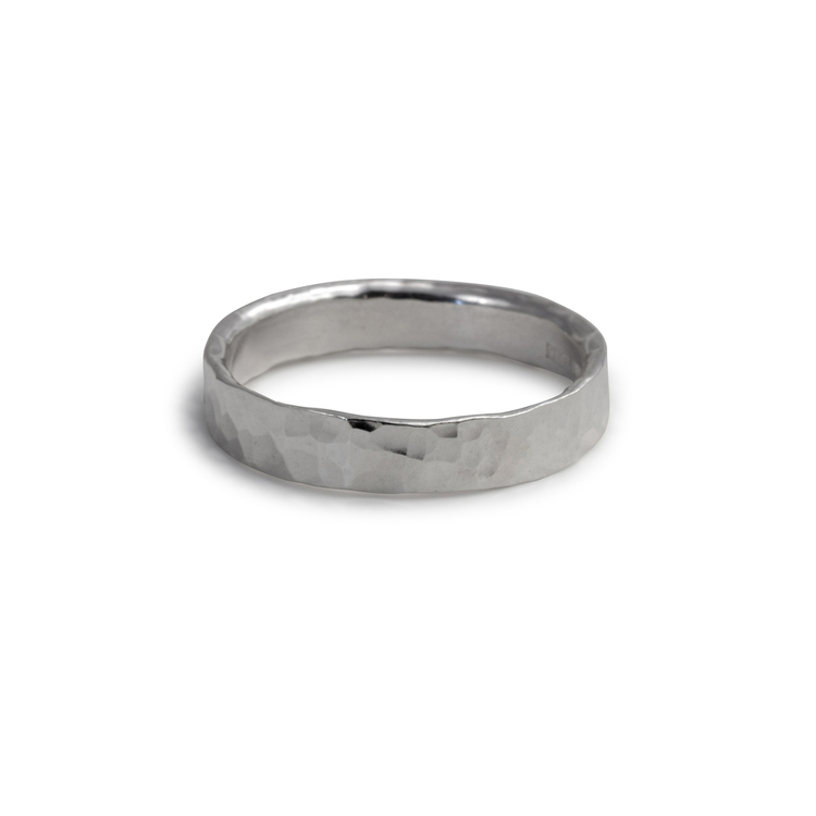 Ring Hamrad 4,5 mm Återvunnet Silver