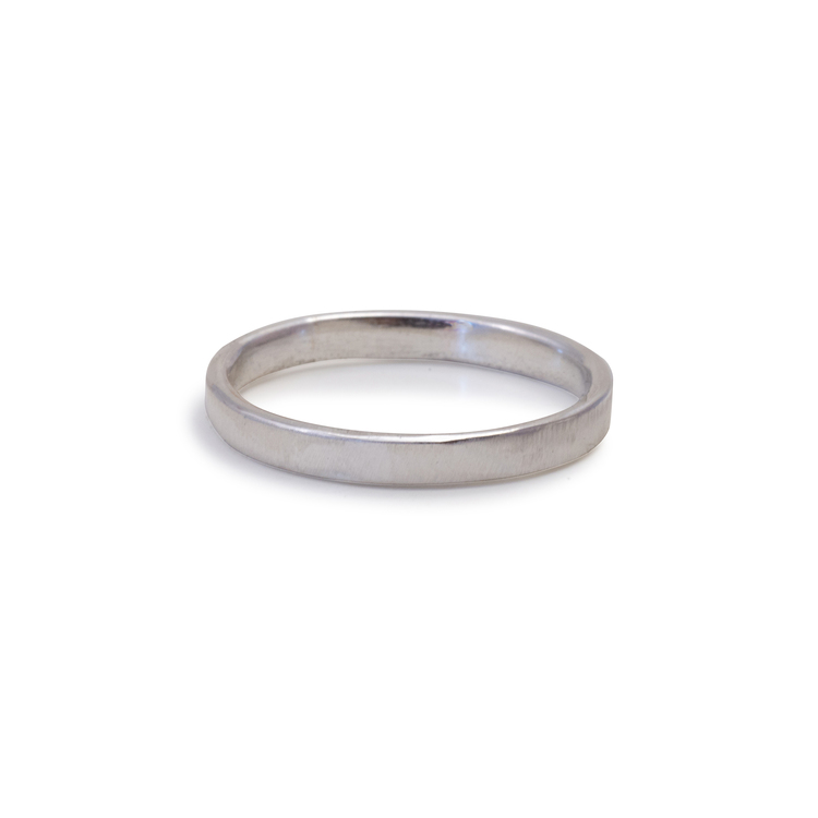 Ring Matt 2,5 mm Återvunnet Silver