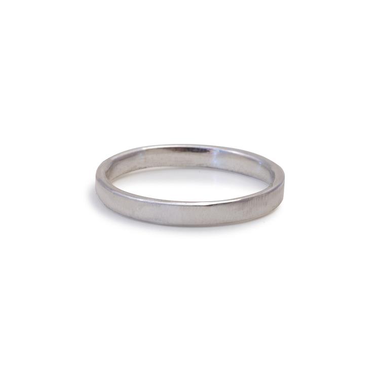 Ring Matt 2,5 mm Återvunnet Silver