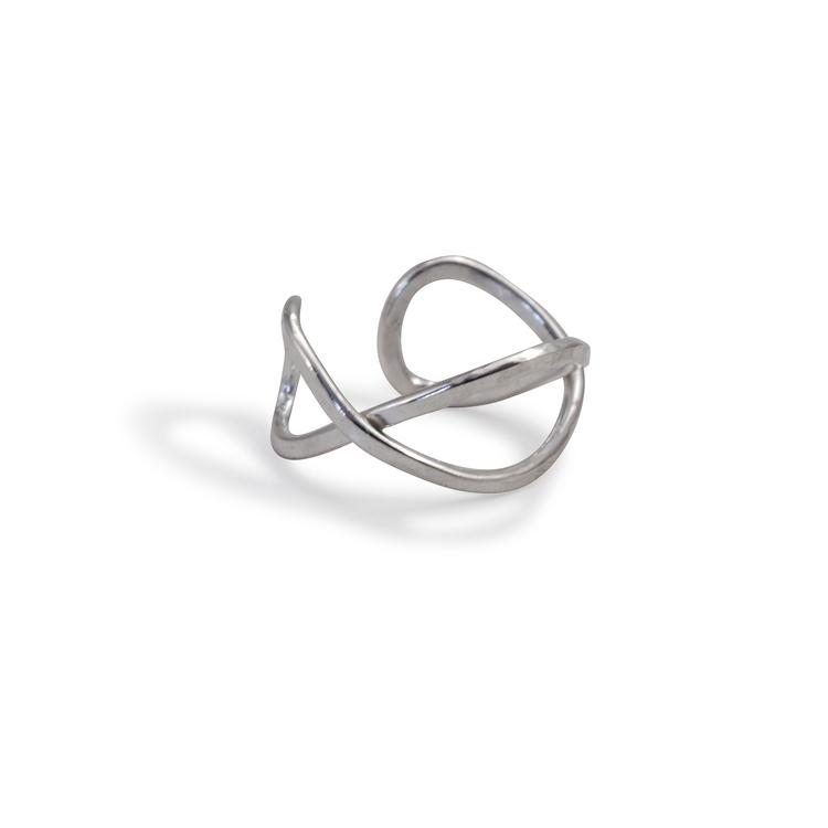 Ear Cuff Kryss Återvunnet Silver