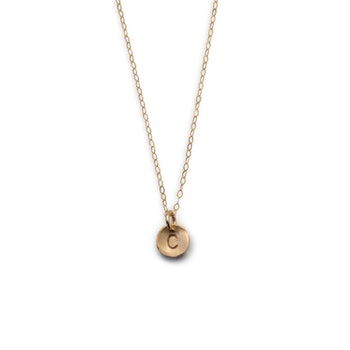 18k Halsband med bokstav i Återvunnet Guld Svala