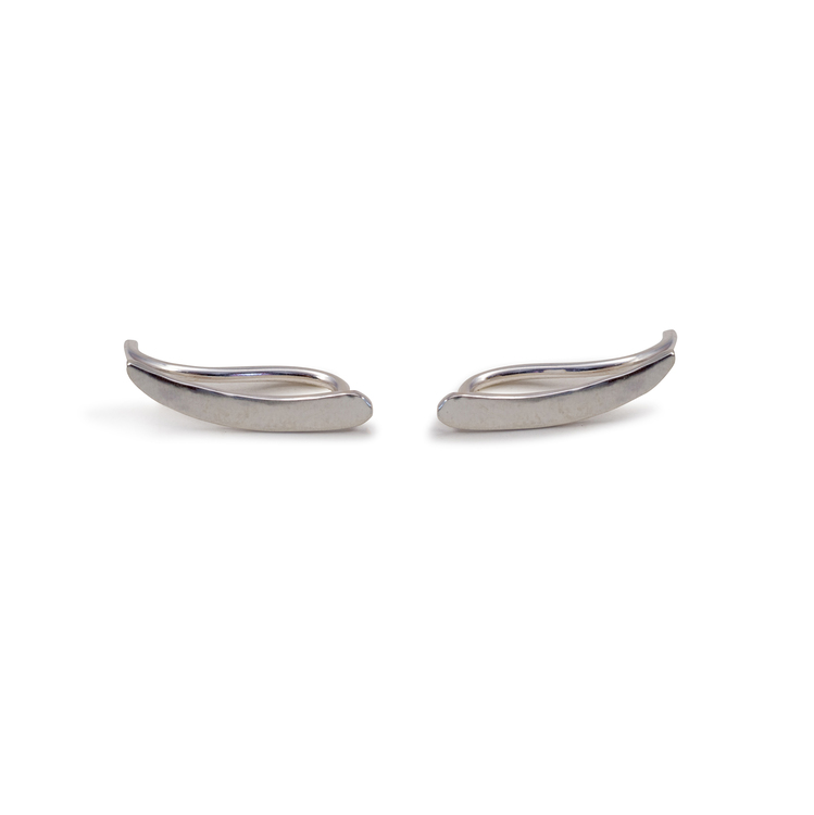 Ear Climber Barr Örhänge Återvunnet Silver
