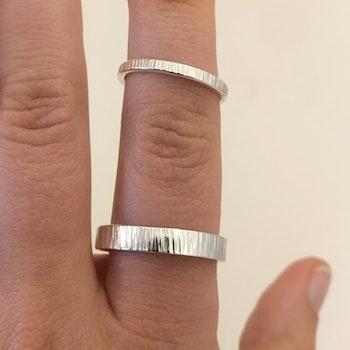 Ring Bark 2,5 mm i Återvunnet Silver