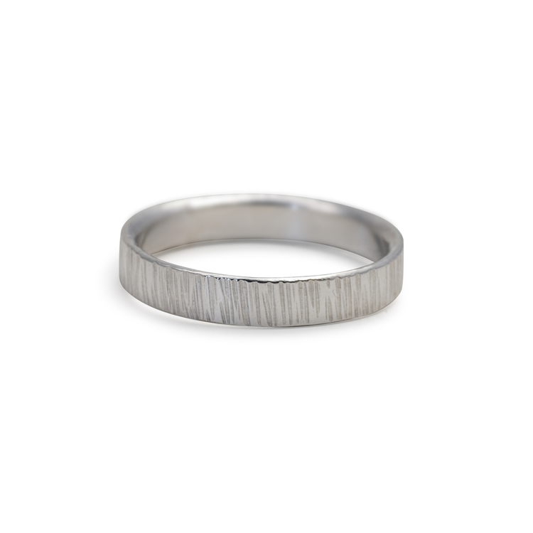 Ring Bark 4,5 mm i Återvunnet Silver