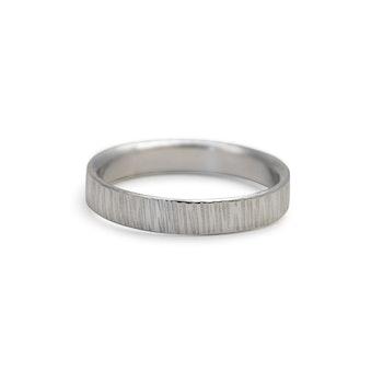Ring Bark 4,5 mm i Återvunnet Silver