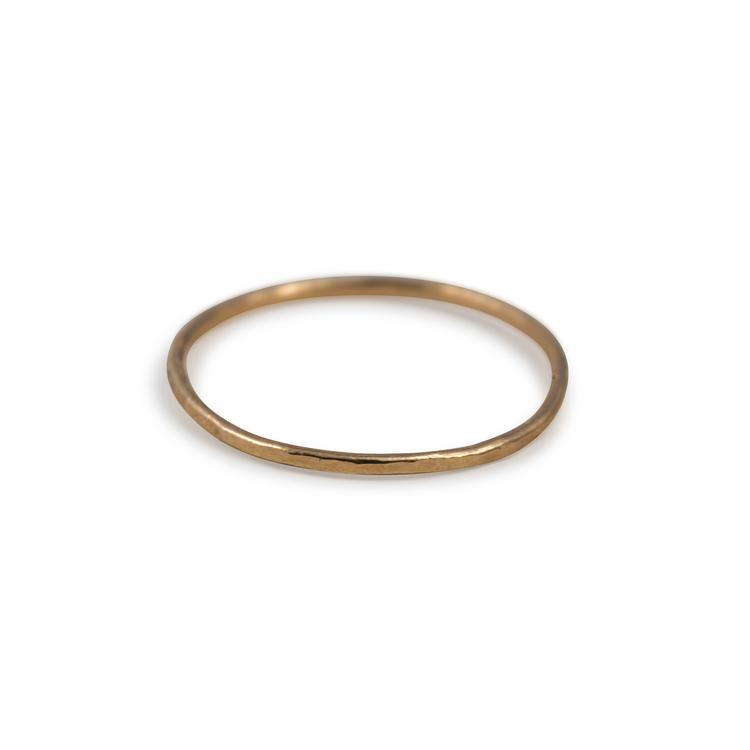 18k Extra Tunn Ring 1 mm i Återvunnet Guld