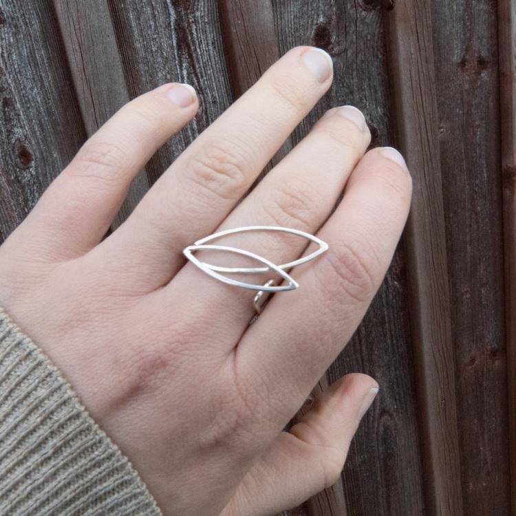 Spira - Justerbar Ring i Återvunnet Silver