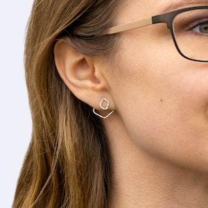 Ear Jacket - Örhänge Fyrkant Återvunnet Silver