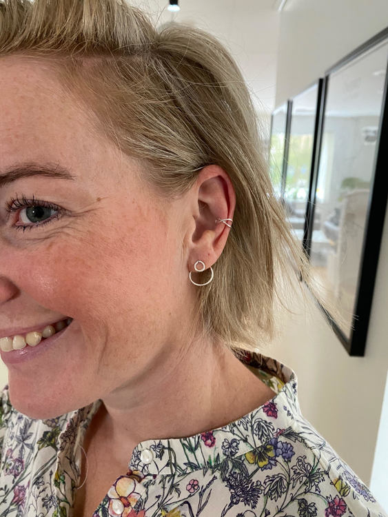 Ear Jacket - Örhänge Cirkel i Återvunnet Silver