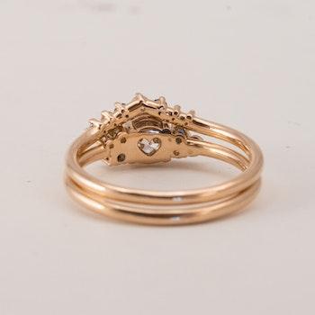 Ingrid - Ringkombination 0,5 ct återvunnen diamant