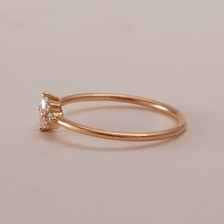 Viola - Ring 18k rödguld Marquise Diamant