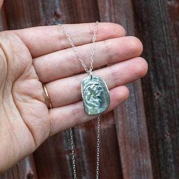 REA Konkav - Halsband i Återvunnet Silver