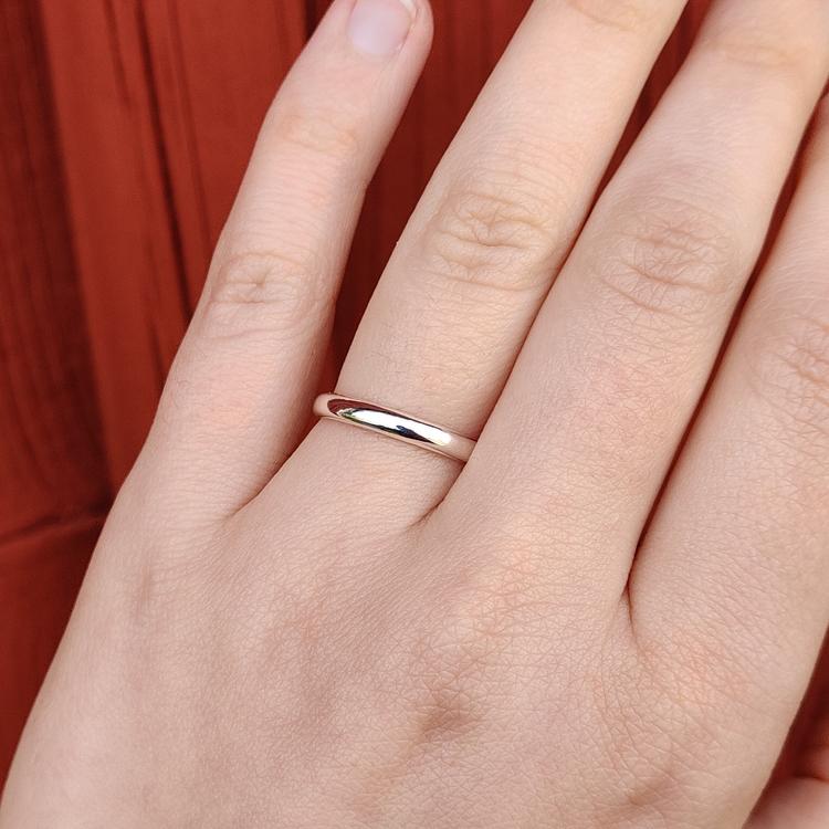 Handgjord ring Återvunnet silver Modell