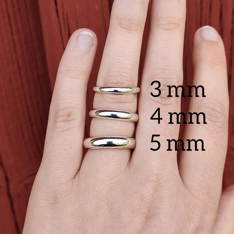Ring Halvrund 3 mm i Återvunnet Silver