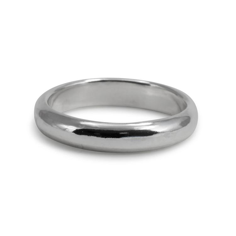 Handgjord blank silverring Återvunnet silver