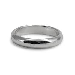 Ring Halvrund 4 mm i Återvunnet Silver