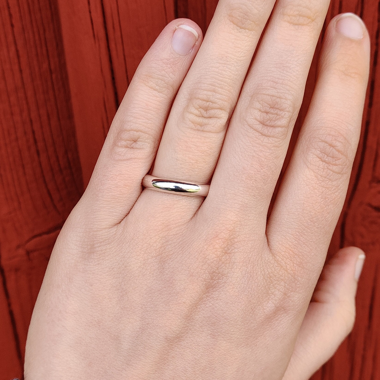 Handgjord blank ring Återvunnet silver Modell