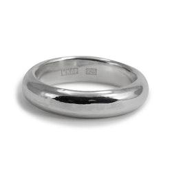 Ring Halvrund 5 mm i Återvunnet Silver