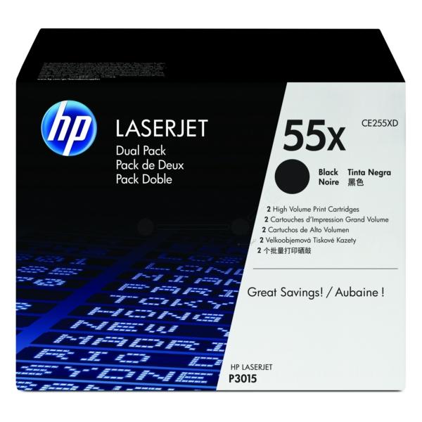 Lasertoner CE255XD - 55XD - 2pack - 2x12500sidor - HP original