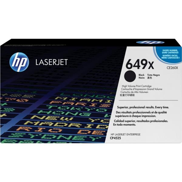 Lasertoner CE260X Svart - 17000sidor - HP original