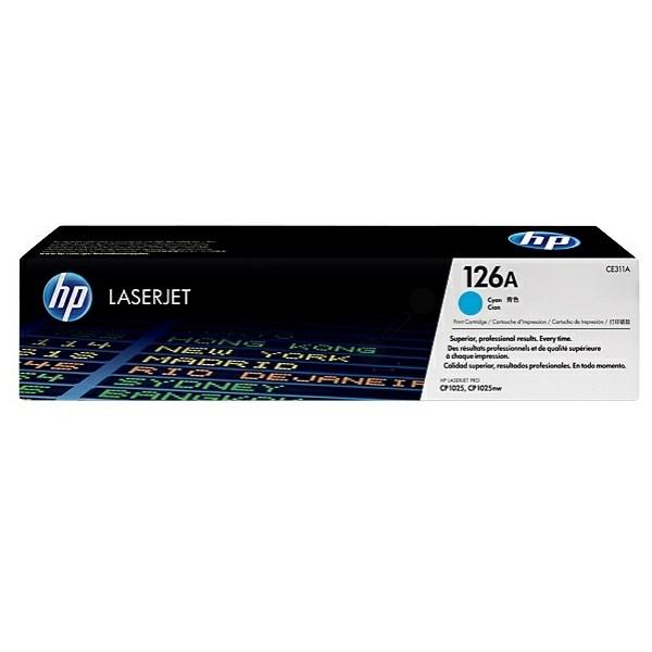Lasertoner CE311A blå /cyan - 1000sidor - HP original