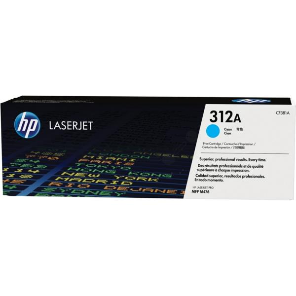 Lasertoner CF381A Blå/cyan - 312A - 2700sidor - HP original