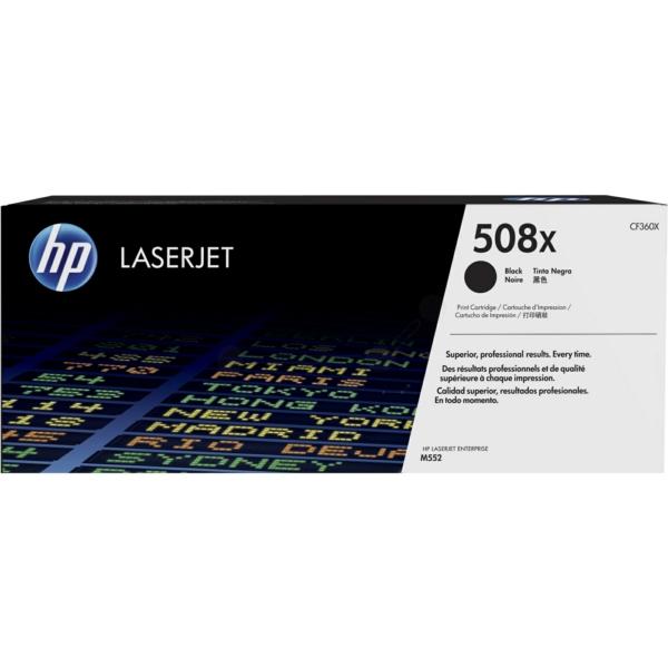 Lasertoner CF360X svart - 508X - 12500sidor - HP original
