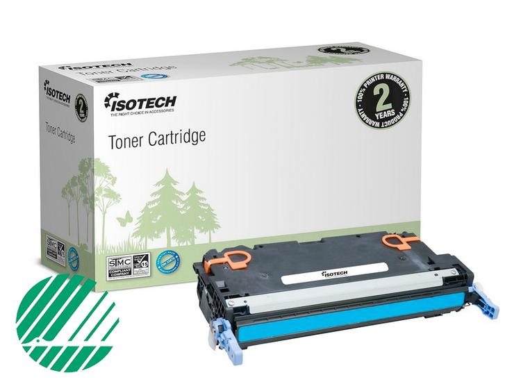Lasertoner Blå/cyan för HP Q7581A - 6000sidor - Kompatibel Isotech