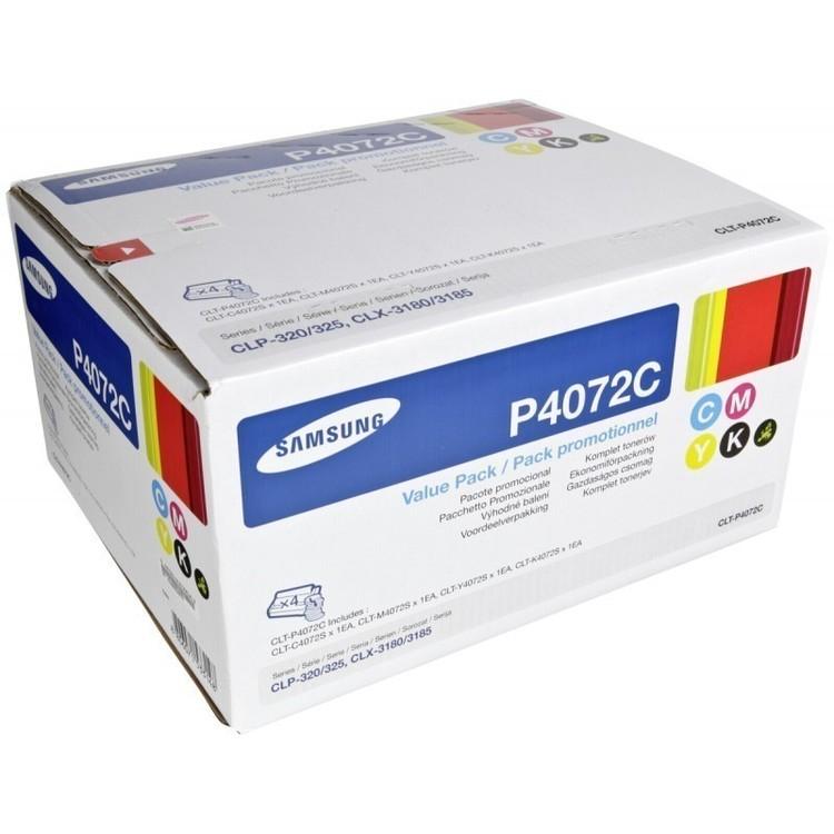 Toner CLT-P4072C - Alla färger=Svart/blå/gul/röd - original