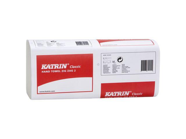Papperhandduk Katrin Classic ZZ kedjevikt 23x23cm 2lags 3000st