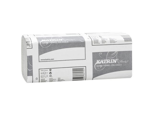 Papperhandduk Katrin Plus ZZ kedjevikt 23x23cm 2lags 3000st