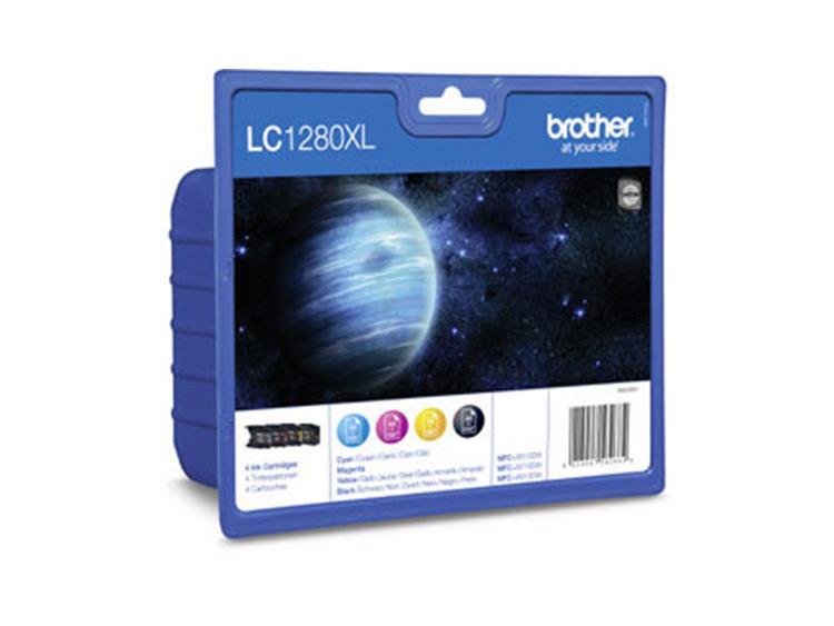 Brother bläck LC-1280XL Valuepack: svart/blå/röd/gul - original
