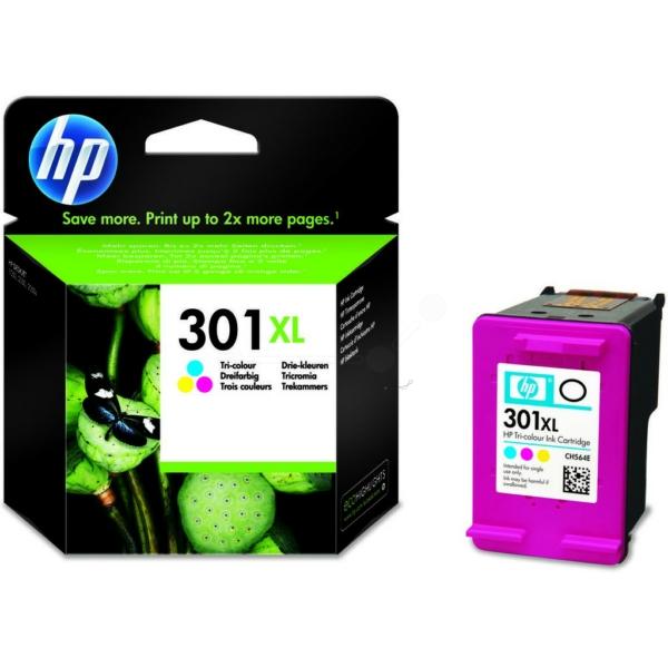 HP bläck 301XL  3färgs patron 330sidor - original