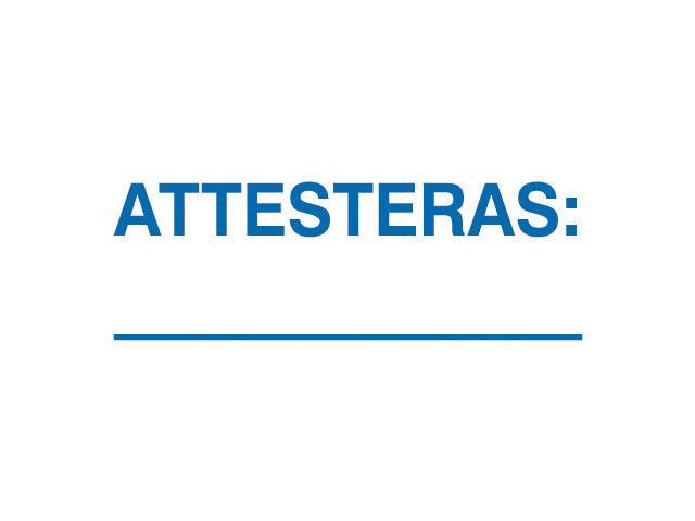 """Stämpel standardtext """"ATTESTERAS"""""""