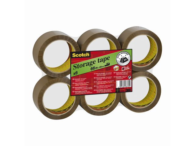 Packtejp Scotch 50mm x 66meter Brun PP 6st