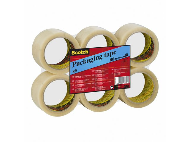 Packtejp Scotch 371 -  38mm x 66meter - transp  6st