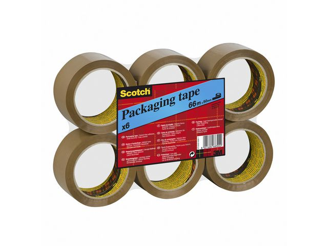 Packtejp Scotch 371 -  38mm x 66meter - brun  6st