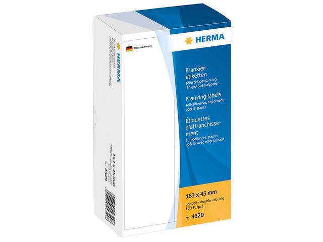 Frankeringsetikett Herma dubbel 163x45mm 500st