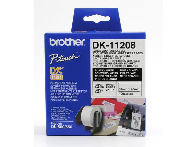Etikett BROTHER universal 38x90mm 400/fp