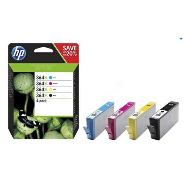 HP bläck 364XL svart,blå,gul,röd - 4färg/fp - original
