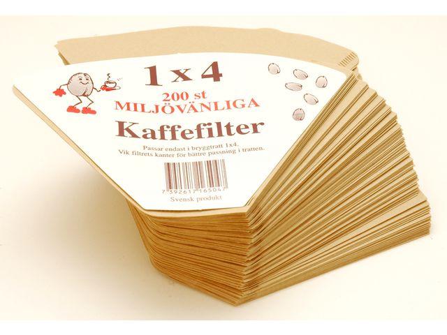 Kaffefilter 1x4 200/fp