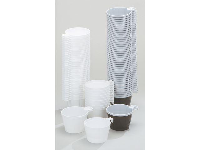 Kaffekopp plast 21cl vit 50/fp