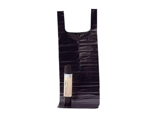 Sopsäck 125L LD knyt 50my svart -  8st i rulle