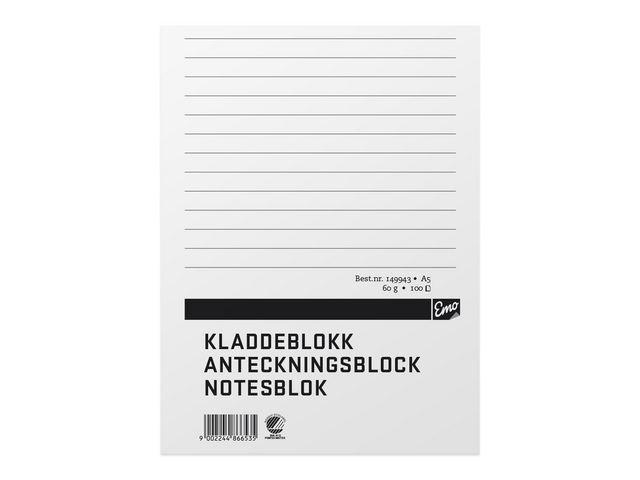 Limblock A5 100 blad linj TF - 10st