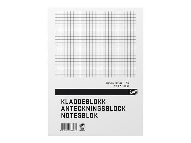 Limblock A5 100 blad rutat TF - 10st