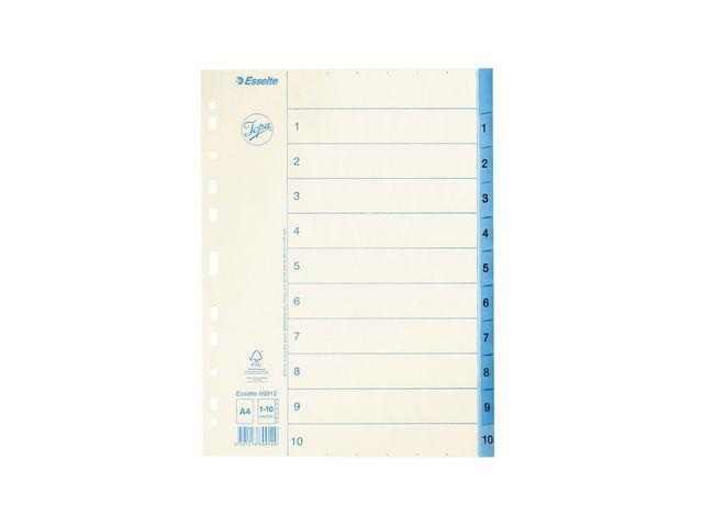 Pärmregister 1-10 papper Jopa 10st